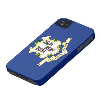 Connecticut flag iPhone 4 case