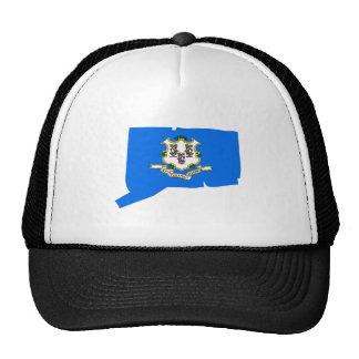 Connecticut Flag Map Hat