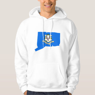 Connecticut Flag Map Hoodie
