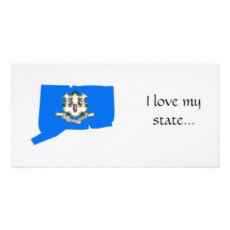 Connecticut Flag Map Photo Card