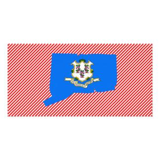 Connecticut Flag Map Photo Card Template