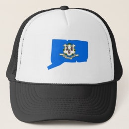 Connecticut Flag Map Trucker Hat