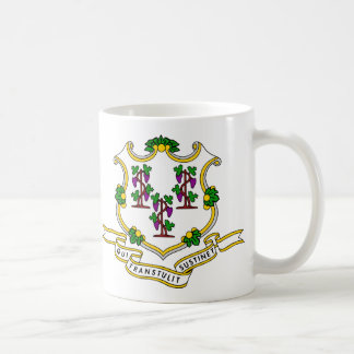 Connecticut Flag Theme 00 Coffee Mug