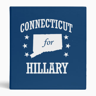 CONNECTICUT FOR HILLARY 3 RING BINDERS