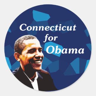 Connecticut for Obama Classic Round Sticker