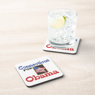Connecticut for Obama Drink Coaster