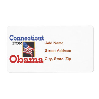 Connecticut for Obama Shipping Label