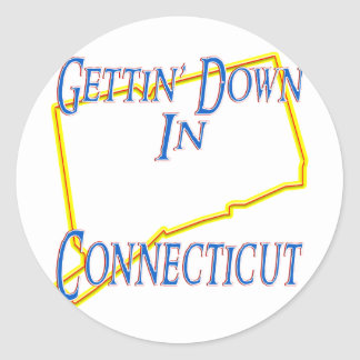 Connecticut - Getting abajo Pegatinas Redondas