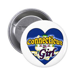 Connecticut Girl Pinback Button