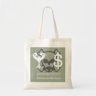 Connecticut Glyph Graphic with Breath Mint ID Tote Bag