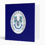 Connecticut Great Seal 3 Ring Binder