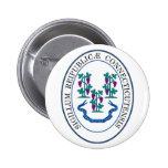 Connecticut Great Seal Pinback Buttons