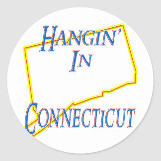 Connecticut - Hangin' Classic Round Sticker