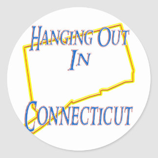 Connecticut - Hanging Out Classic Round Sticker