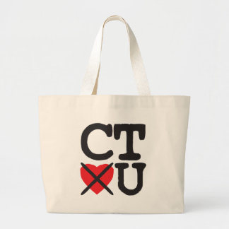 Connecticut Hates You Large Tote Bag