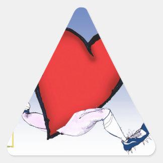 connecticut head heart, tony fernandes triangle sticker
