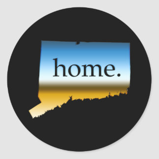 Connecticut home Horizon Classic Round Sticker