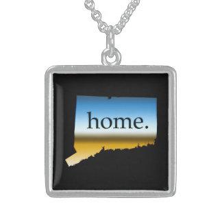 Connecticut home Horizon Square Pendant Necklace