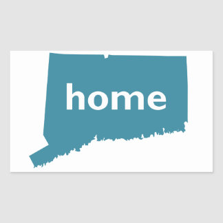 Connecticut Home Rectangular Sticker