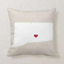 """Connecticut Home State New Home Pillow 16"""" x 16"""""""