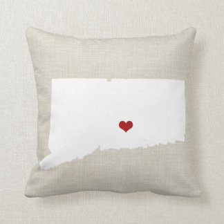"Connecticut Home State New Home Pillow 16"" x 16"""