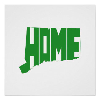 Connecticut Home State Poster