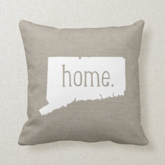 Connecticut Home State Throw Pillow