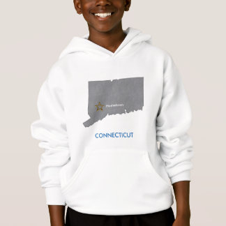 CONNECTICUT Home Town Personalized Map Hoodie
