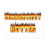 Connecticut hottie fire and flames business card templates