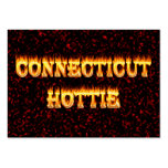 connecticut hottie fire and flames large business cards (Pack of 100)