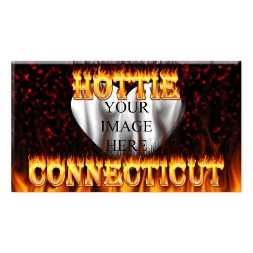 Connecticut hottie fire and flames Double-Sided standard business cards (Pack of 100)