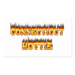 Connecticut hottie fire and flames business card template