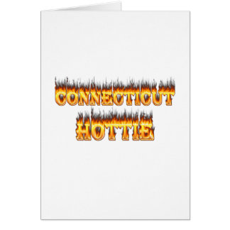 Connecticut hottie fire and flames card