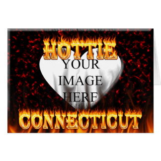 connecticut hottie fire and flames design card