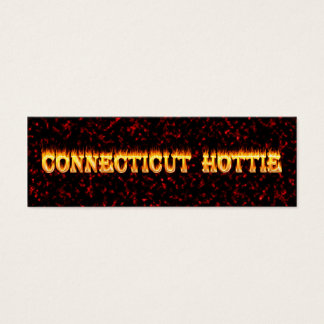 connecticut hottie fire and flames mini business card