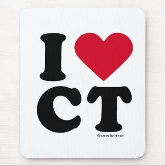 CONNECTICUT - I LOVE CT - I LOVE CONNECTICUT MOUSE PAD
