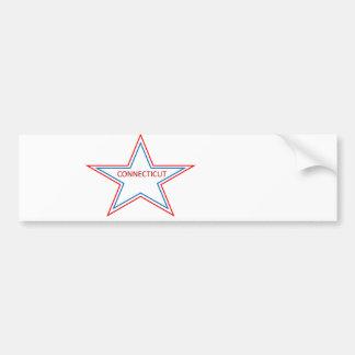 Connecticut in a star. bumper sticker