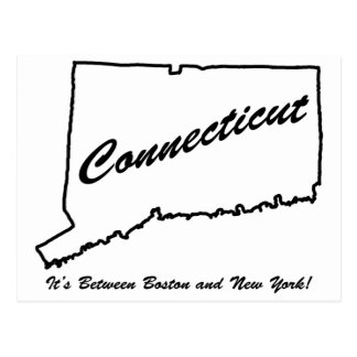 Connecticut - It's between Boston and New York! Postcard