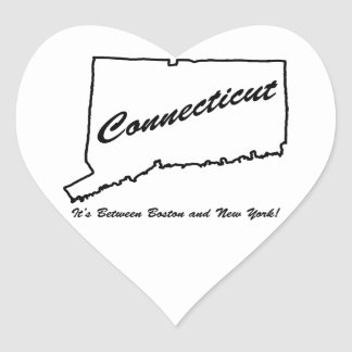 Connecticut - It's between Boston and New York! Stickers