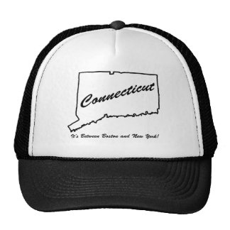 Connecticut - It's between Boston and New York! Trucker Hat