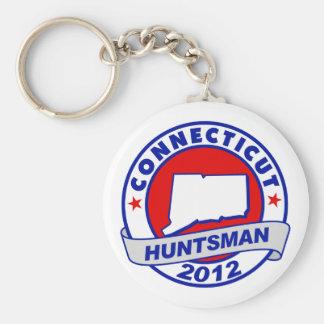 Connecticut Jon Huntsman Keychain