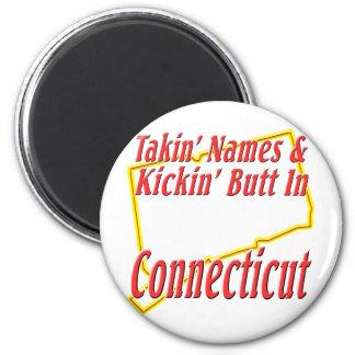 Connecticut - Kickin' Butt 2 Inch Round Magnet