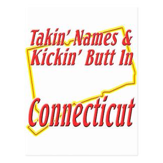 Connecticut - Kickin' Butt Postcard