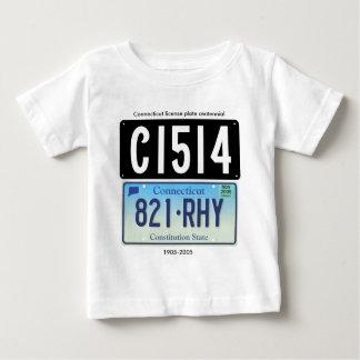 Connecticut license plate centennial baby T-Shirt