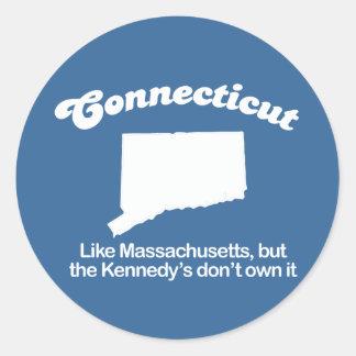 Connecticut - Like Massachusetts but no Kennedy T- Classic Round Sticker