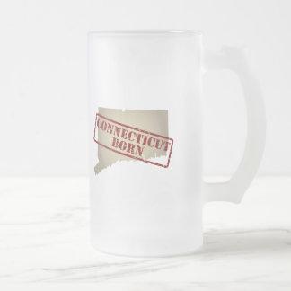 Connecticut llevado - sello en mapa taza de café