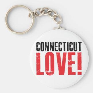 Connecticut Love Keychain