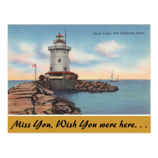 Connecticut, luz externa, Saybrook viejo Postal