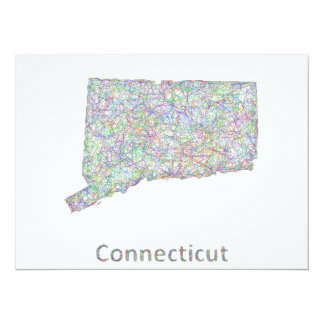 Connecticut map card