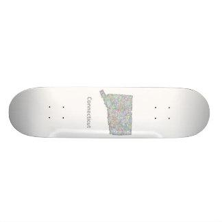 Connecticut map custom skate board